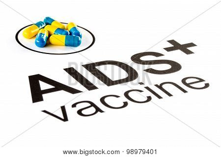 Science research by AIDS Oral vaccine capsule prevent HIV poster