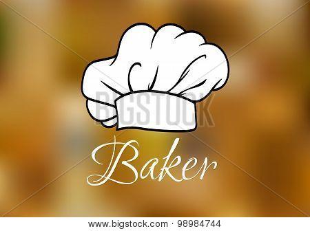 White chef cap ot toque