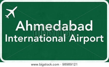 Ahmedabad India Airport Highway Sign