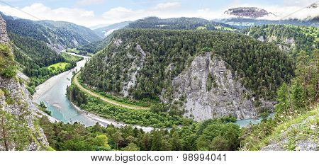 Ruinaulta or Rhine canyon or Swiss Grand Canyon.
