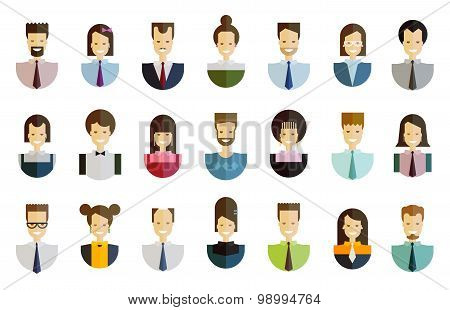 business people vector logo design template. job or office icons set
