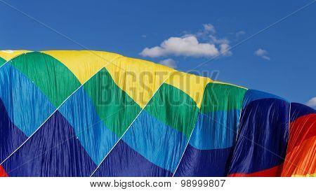 Colorful Air Balloon Against The Blue Sky
