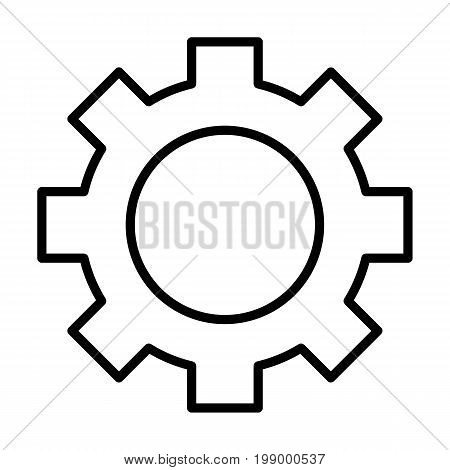 Gear wheel line icon. Cog linear sign. Options, preferences and settings symbol in outline style. Vector