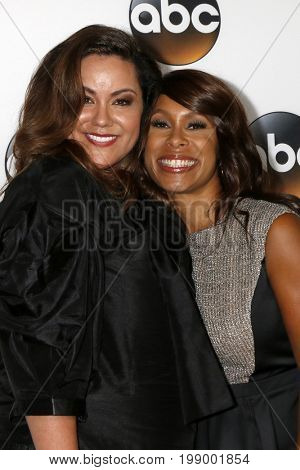 LOS ANGELES - AUG 6:  Katy Mixon, Channing Dungey at the ABC TCA Summer 2017 Party at the Beverly Hilton Hotel on August 6, 2017 in Beverly Hills, CA