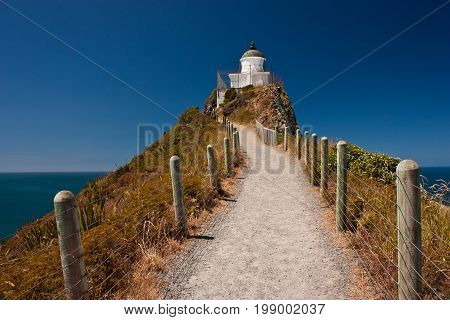 Nugget Point Lighthouse, in Catlins region on the East Coast of New Zealand