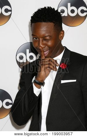 LOS ANGELES - AUG 6:  Brandon Micheal Hall at the ABC TCA Summer 2017 Party at the Beverly Hilton Hotel on August 6, 2017 in Beverly Hills, CA
