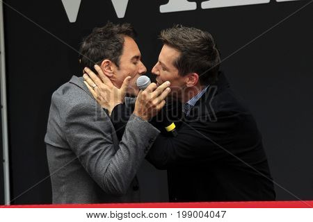 LOS ANGELES - AUG 2:  Eric McCormack, Sean Hayes at the