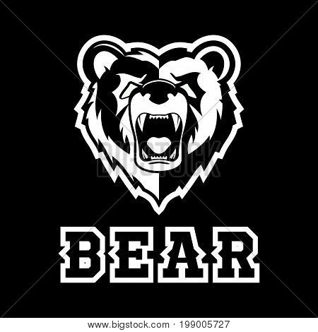 Modern professional grizzly bear logo for a sport team