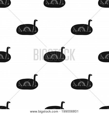 Loch Ness monster icon in black design isolated on white background. Scotland country symbol stock vector illustration.