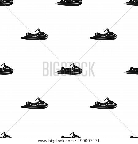 Water scooter for entertainment.Water transport for two people.Ship and water transport single icon in black style vector symbol stock web illustration.
