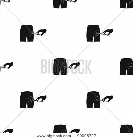Intramuscular injection into the buttock with a syringe. Medicine single icon in black style vector symbol stock illustration .