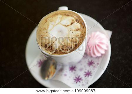 Mug Capuccino With Meringue