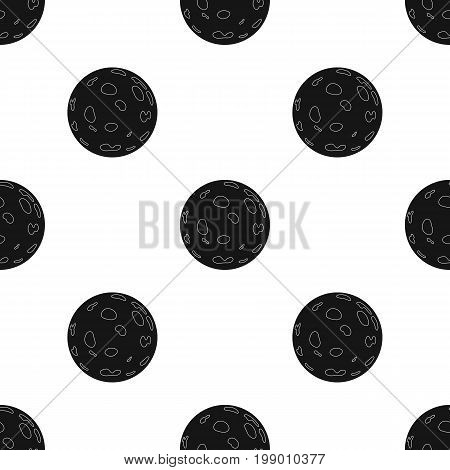 Moon icon in black design isolated on white background. Sleep and rest symbol stock vector illustration.