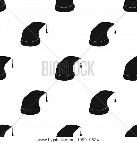 Nightcap icon in black design isolated on white background. Sleep and rest symbol stock vector illustration.