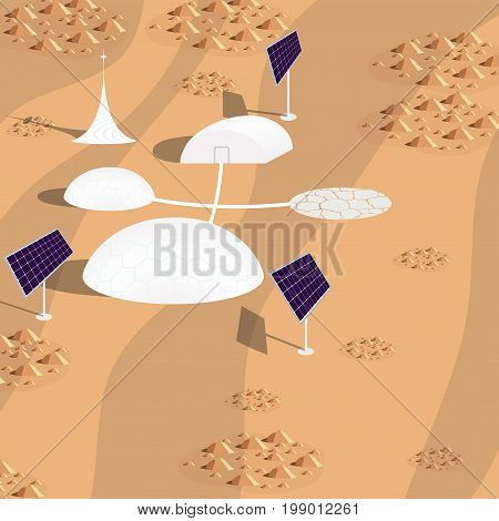 imaginary colony on Mars, space, colonization of the planet