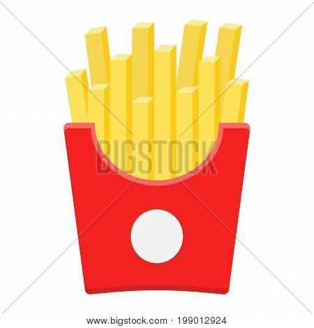 French fries flat icon, food and drink, fast food sign vector graphics, a colorful solid pattern on a white background, eps 10.