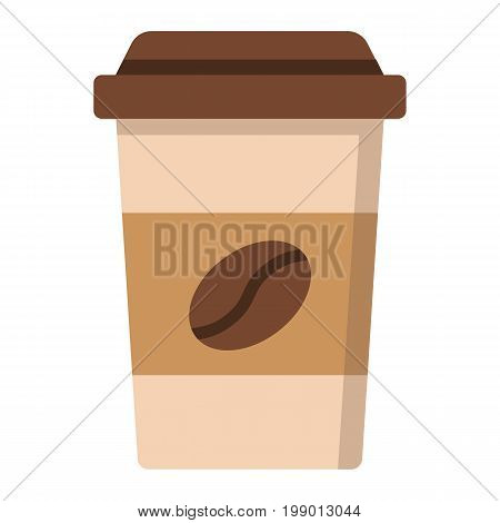 Coffee flat icon, food and drink, cappuccino sign vector graphics, a colorful solid pattern on a white background, eps 10.