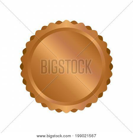 Modern Bronze Circle Metal Badges, Labels And Design Elements. Vector Illustration