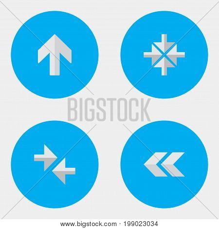 Elements Upwards, Export, Inside And Other Synonyms Import, Arrow And Back.  Vector Illustration Set Of Simple Indicator Icons.