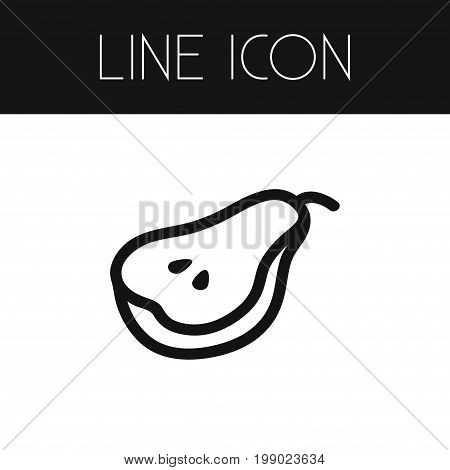 Healthy Vector Element Can Be Used For Diet, Duchess, Pear Design Concept.  Isolated Duchess Outline.