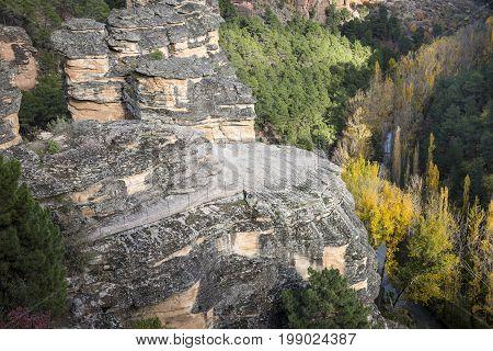 the Barranco de la Hoz ravine and Gallo river, Corduente, Province of Guadalajara, Spain