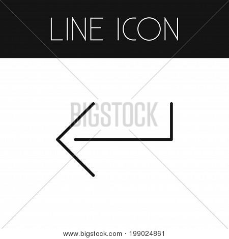 Button Vector Element Can Be Used For Enter, Button, Keyboard Design Concept.  Isolated Enter Outline.