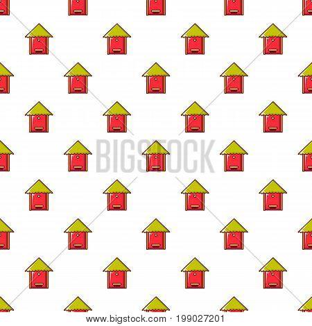 Beehive pattern in cartoon style. Seamless pattern vector illustration