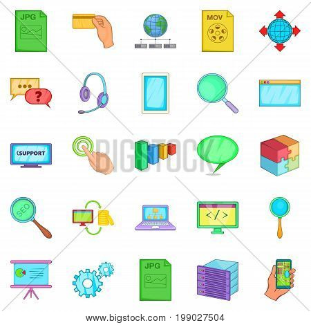 SEO expert icons set. Cartoon set of 25 seo expert vector icons for web isolated on white background