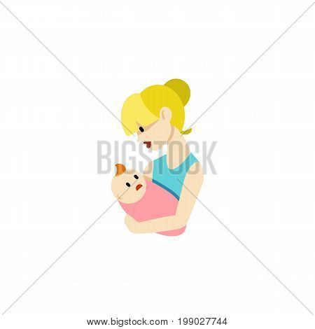 Parent Vector Element Can Be Used For Parent, Newborn, Baby Design Concept.  Isolated Newborn Baby Flat Icon.
