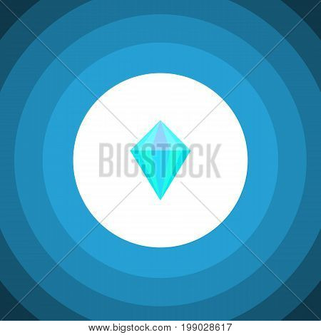 Gemstone Vector Element Can Be Used For Carat, Diamond, Gemstone Design Concept.  Isolated Carat Flat Icon.