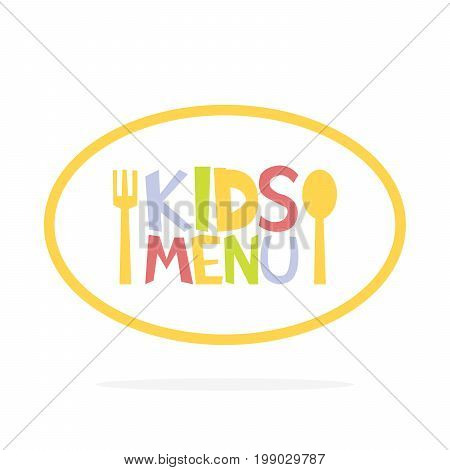 Kids Menu Ellipse Label Template