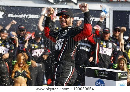 August 06, 2017 - Watkins Glen, New York, USA: Martin Truex Jr. (78) wins the I LOVE NY 355 at Watkins Glen International in Watkins Glen, New York.