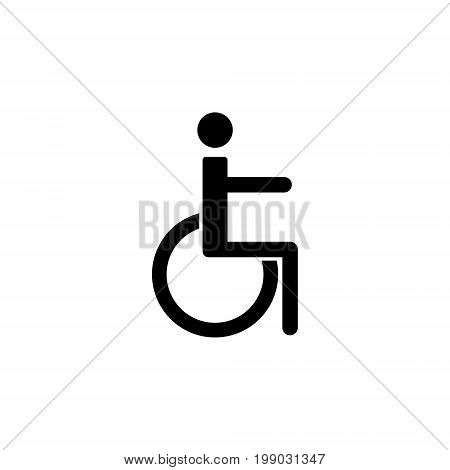 Sign of disabled person. Which is ideal for your design