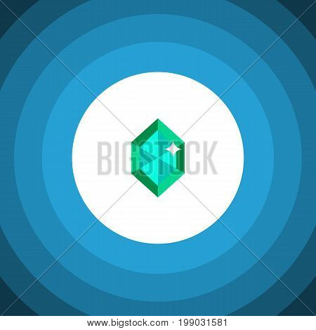 Crystal Vector Element Can Be Used For Gem, Crystal, Diamond Design Concept.  Isolated Gem Flat Icon.