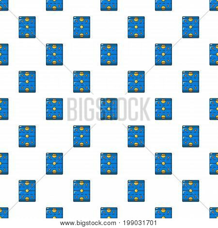 Ice hockey rink pattern in cartoon style. Seamless pattern vector illustration