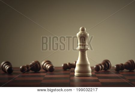 Chess game . Business concept of leadership
