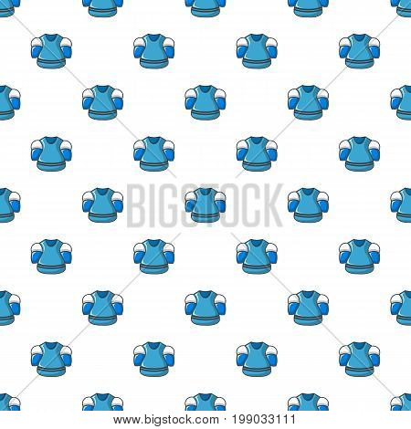 Hockey jersey pattern in cartoon style. Seamless pattern vector illustration