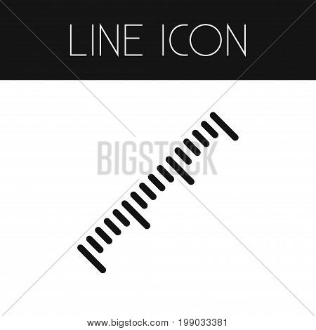 Scale Vector Element Can Be Used For Length, Ruler, Scale Design Concept.  Isolated Length Outline.