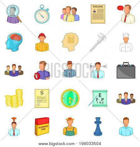 Vacancy icons set. Cartoon set of 25 vacancy vector icons for web isolated on white background