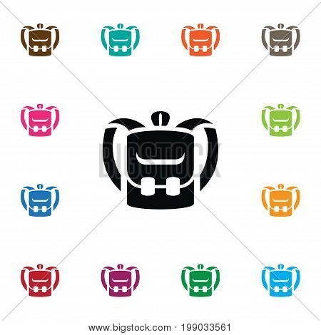 Knapsack Vector Element Can Be Used For Knapsack, Pack, Bag Design Concept.  Isolated Luggage Icon.