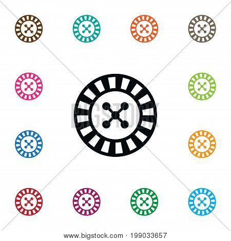 Lucky Vector Element Can Be Used For Gambling, Lucky, Roulette Design Concept.  Isolated Gambling Icon.