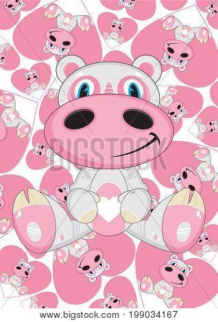 Cartoon Hippo 22