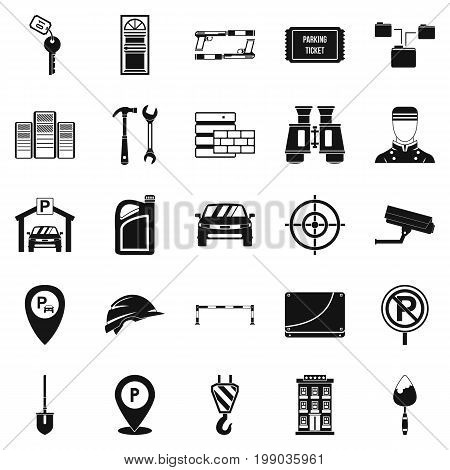 Spanner icons set. Simple set of 25 spanner vector icons for web isolated on white background