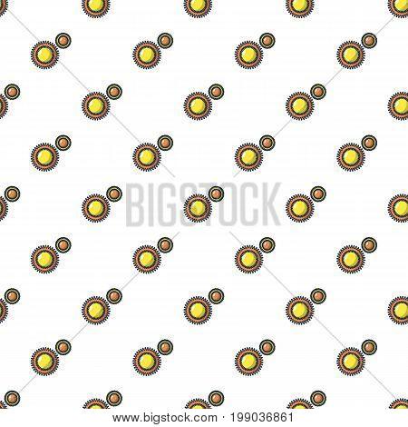 Round bacteria pattern in cartoon style. Seamless pattern vector illustration