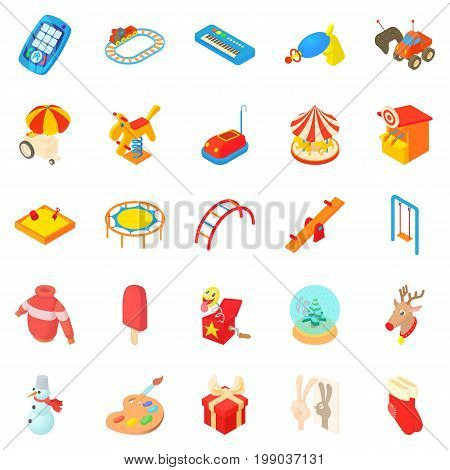 Childness icons set. Cartoon set of 25 childness vector icons for web isolated on white background