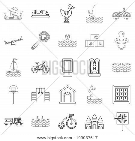 Physical training icons set. Outline set of 25 physical training vector icons for web isolated on white background