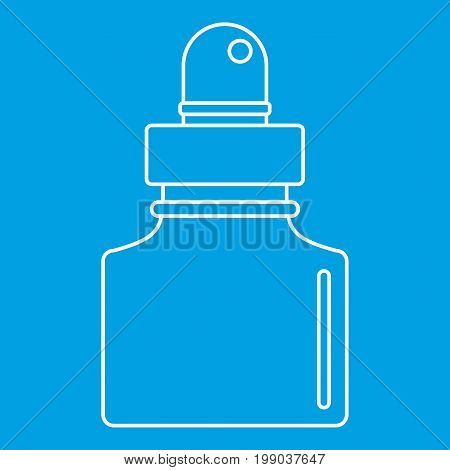 Black inkwell icon blue outline style isolated vector illustration. Thin line sign