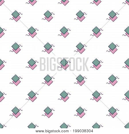 Pattern for sewing pattern in cartoon style. Seamless pattern vector illustration