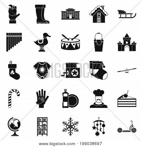 Infant school icons set. Simple set of 25 infant school vector icons for web isolated on white background