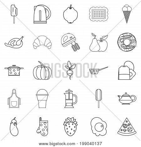 Caboose icons set. Outline set of 25 caboose vector icons for web isolated on white background